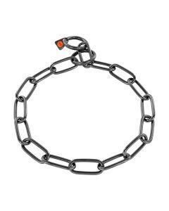 HS Sprenger Collar eslabón largo de acero inoxidable negro 4 mm