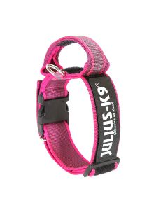 Julius-K9 Collar rosa con asa