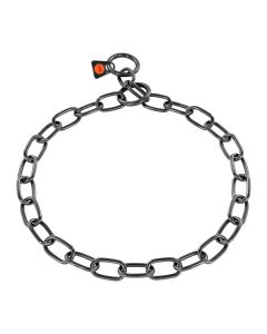 HS Sprenger Collar eslabón medio de acero inoxidable negro 3 mm