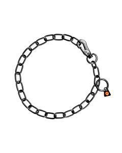 HS Sprenger Collar eslabón ajustable de acero inoxidable negro