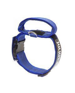 Julius-K9 Collar azul con asa