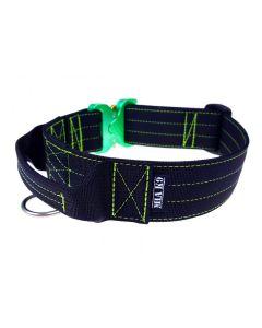 Mia K9 Collar con asa y cierre cobra verde 40 mm