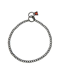 HS Sprenger Collar eslabón retorcido de acero inoxidable negro 2 mm