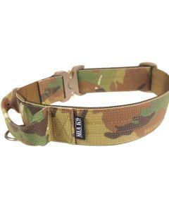 Mia K9 Collar militar con asa y cierre cobra 40 mm