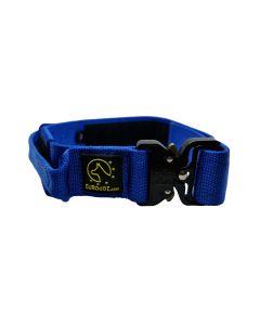 Euro Joe Collar táctico azul con asa 38 mm