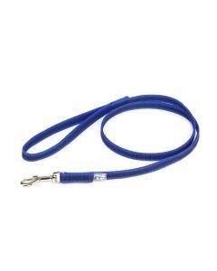 Julius-K9 Correa azul de goma entretejida 20 mm con asa