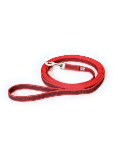 Julius-K9 Correa roja de goma entretejida 20 mm con asa
