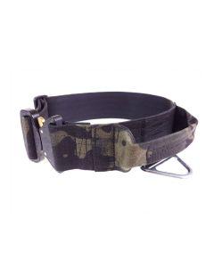 Mia K9 Collar militar de cordura con asa y cierre cobra 50 mm