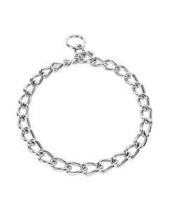 HS Sprenger Collar eslabón retorcido de acero inoxidable negro 5 mm