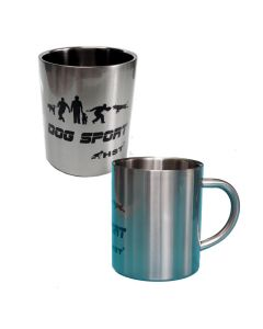 HST Taza Dog Sport de acero inoxidable